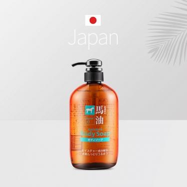 日本进口熊野油脂马油无硅油持久留香弱酸性滋润沐浴露600ml