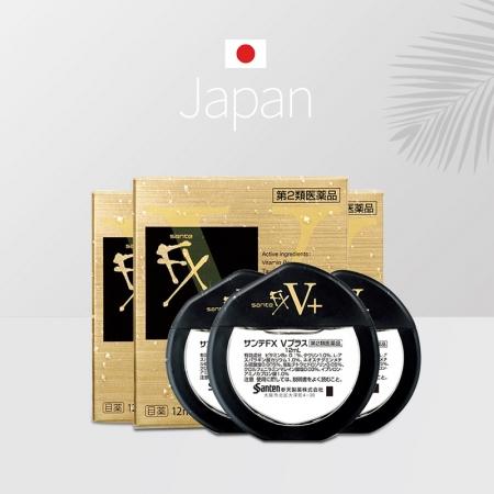日本进口参天FX金色缓解疲劳眼充血眼药水12ml