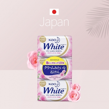 日本进口花王植物护肤香皂130g*3