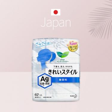 日本进口花王乐而雅棉柔超通透卫生护垫银离子除异味型62pic