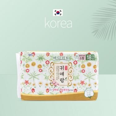 韩国进口贵爱娘贵艾朗中草药日用卫生巾21cm*18pic