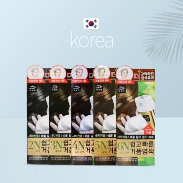 韩国进口爱茉莉美妆仙泡沫速效染发膏