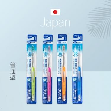 日本进口狮王3D 4列透明柄小头牙刷(日本齿科医推奖设计)