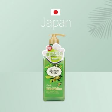 韩国进口爱敬清爽水润橄榄绿茶沐浴露550g