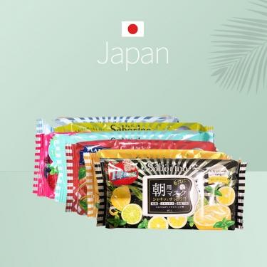 日本进口早安面膜 60秒懒人早晨补水保湿柠檬黄瓜橙子32pic绿