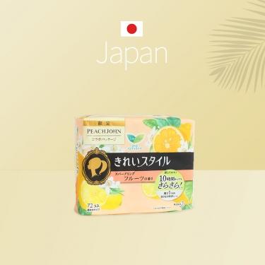 日本进口花王乐而雅棉柔超通透卫生护垫水果香72pic
