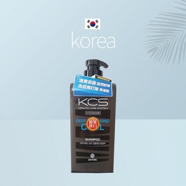 韩国进口爱敬可希丝男士洗发香波多效清洁型控油550ml