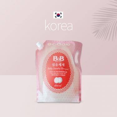 韩国进口保宁婴幼儿洗衣液补充装1800ml
