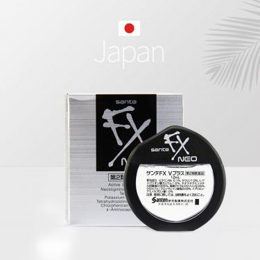 日本进口参天FX NEO银色舒缓疲劳眼充血眼药水12ml