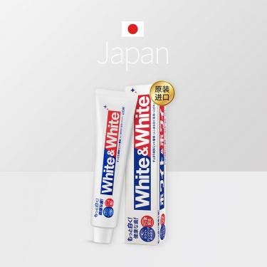 日本进口狮王white美白防蛀清新去牙渍牙膏150g